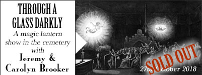 A magic lantern show in the cemetery