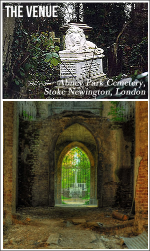 Venue - The Dissenters' Chapel, Kensal Green Cemetery, London (ticket includes a tour of the catacombs)