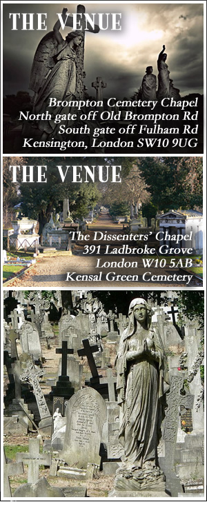 The Dissenters' Chapel, Kensal Green Cemetery, London. Ticket includes tour of the catacombs.